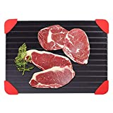 Fast Food Meat Rapid Thaw Defrosting Tray Quicker Safer Way to Defrost for Frozen Food/Meat Pork/Beef Fish-(23x16.5cm)