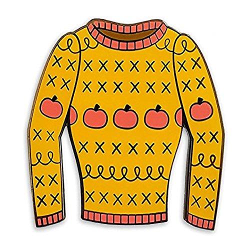 Pinsanity Funny 90's TV Sitcom Sweater Enamel Lapel Pin