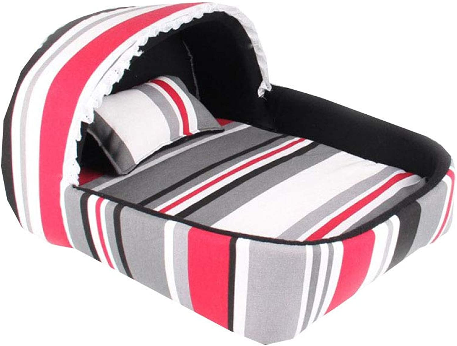 Dog beds Premium Water Resistant And Durable Fabric Washable Cover Happy Hound = Happy Home,Red50  40  25cm