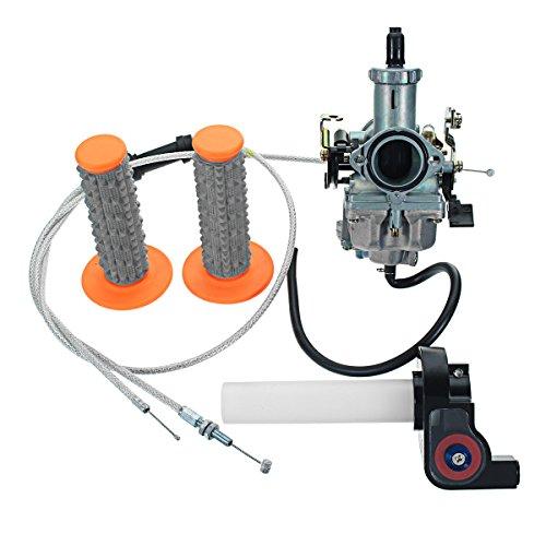 Alamor 30mm Vergaser + im Twister + Kabel + Griffe für 200cc 250er Motorrad Dirt Bike - Orange