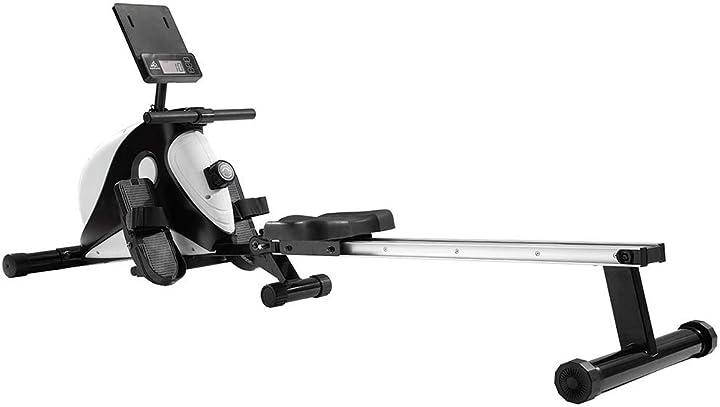 Vogatore pieghevole volano 8 kg 8 resistenza magnetico professionale per casa ufficio bianco B08L3YCMJB