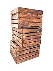 Geflammte Holzkisten