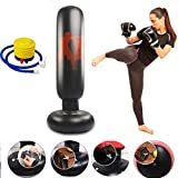 CRRD Punching Heavy Bag,Inflatable Punching Bag Freestanding Fitness Punching Boxing Bag for Kids and Adults Boxing Target Bag