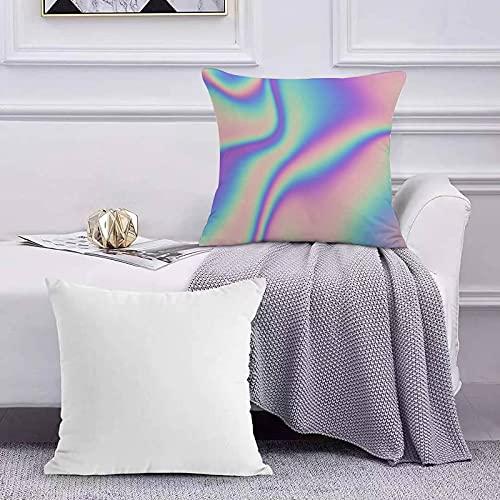 Funda de Cojín Funda de Almohada del Hogar Azul Brillante Abstracto Holográfico 80 90 Etiqueta Rosa Cromo Color Coloreado Cósmico Cre Sofá Throw Cojín Almohada Caso de la Cubierta para 45x45cm