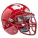 Schutt Sports Vengeance VTD II Football Helmet Without Faceguard, Scarlet, Medium