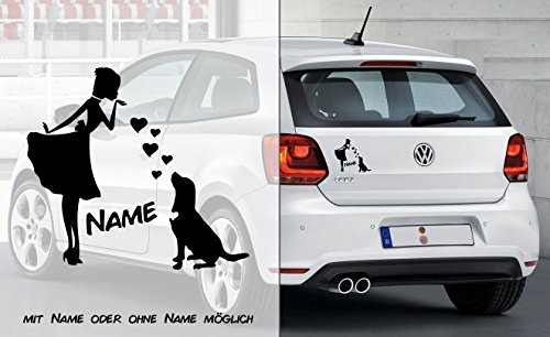 Prinzessin Labrador Retriever Herz | Hund | Wunschtext | Auto Aufkleber | Decal