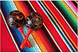 1000 pieces-Poncho Maraca Mexican Mexico Background Mariachi Fiesta Serape Stripes Wooden Jigsaw Puzzle DIY Children Educational Puzzles Adult Decompression Gift Creative Games Toys Puzzles Home