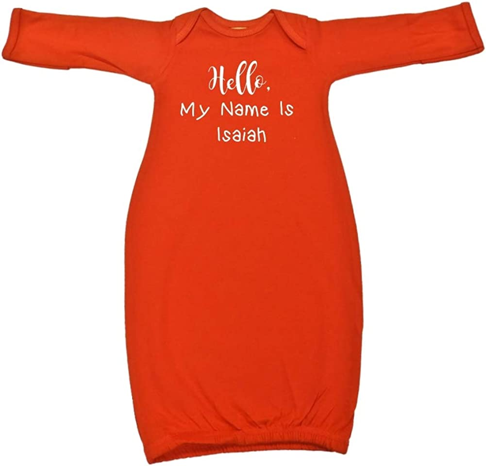 High order Inexpensive Mashed Clothing Hello My Name Personalized Baby - Isaiah is