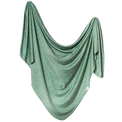 Large Premium Knit Baby Swaddle Receiving BlanketquotJuniperquot by Copper Pearl