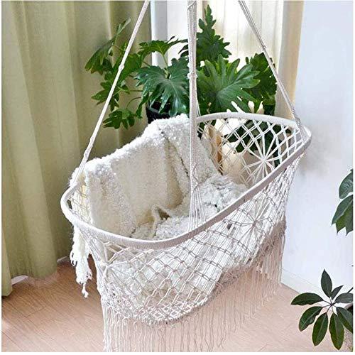 Best Deals! CLX Cradle Hammock Soothing Baby Sleeping Hanging Rocking Crib Cradle Hammock Baby Cradle Swing (White)