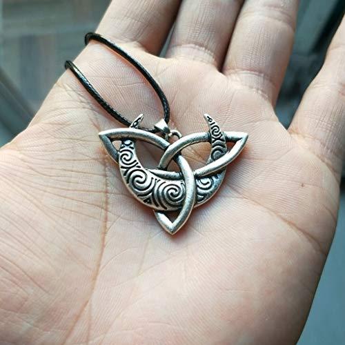 SummarLee 1 Vikingo Vintage Bruja Colgante Collar Joyas Nórdico Míti