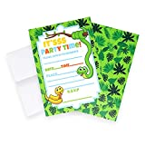 Snake Invitations (Quantity of 20), Birthday Party, Larger Sized with Vivid Colors, Fun Party Supplies, Envelopes Included