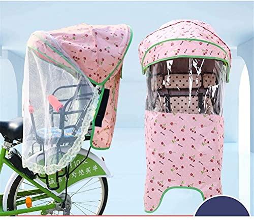 X&Y Cubierta del Asiento Trasero del niño de la Bicicleta eléctrica, Cuatro Temporadas Universal a Prueba de Viento a Prueba de Agua a Prueba de Agua con Dosel de Lluvia, sin Asiento (Color : A)