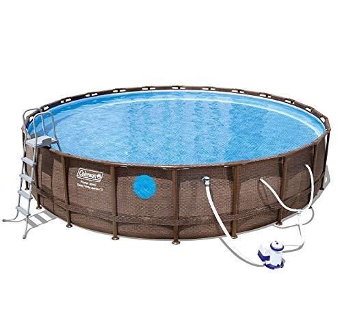Sari-Sari E-Store Coleman 22'x52 Swim Vista II Pool Set with Pump, Ladder and Cover