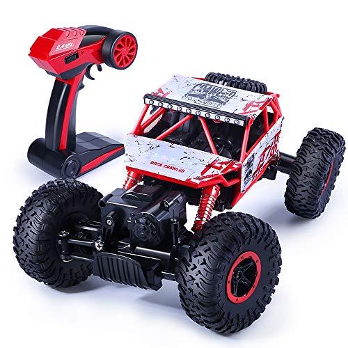 ZAKRLYB Racing Fast Race 1/18 Escala 2.4GHz Radio de alta velocidad 4WD para niños con baterías recargables Robusto control remoto Coche RC Vehículo Coche de juguete Niños y adultos Rastreadores de ve