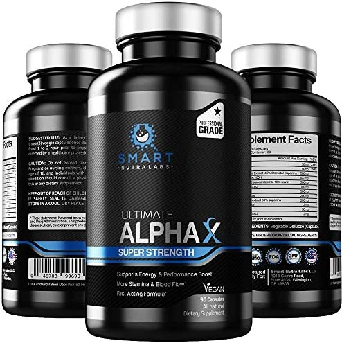 Ultimate AlphaX Male Enhancing Pills Super Strength Enlargement Booster For Men Professional product image