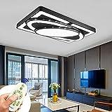 Deckenlampe LED Deckenleuchte 78W Wohnzimmer Lampe Modern Deckenleuchten Kueche Badezimmer Flur Schlafzimmer (Schwarz, 78W-Dimmbar)