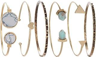 YEOPEN 6PCS Cuff Bracelet Set Bangle Women Love Freedom...