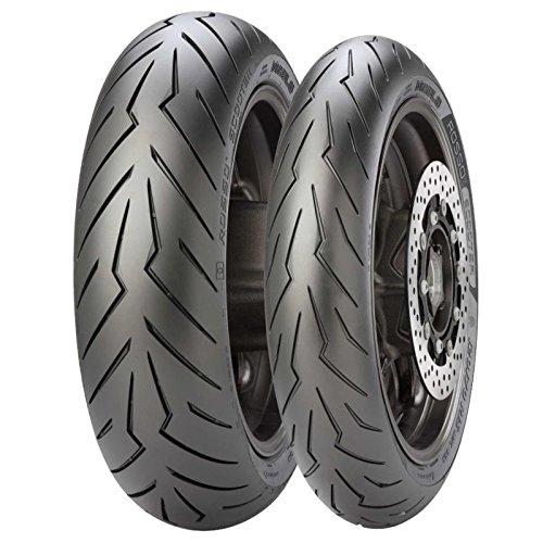 Pirelli - Juego de neumáticos Diablo Rosso para scooter 120/70-15- 160/60-15 - Para Yamaha T-MAX 500