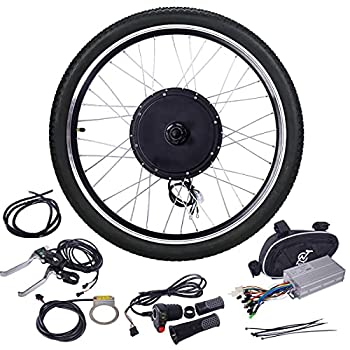 """Ebike Conversion Kit 48V 1500W 26"""" Rear Wheel Electric Motorbike Bicycle Kit Power Hub Motor w/Intelligent Controller and PAS System for Touring Commuter and Mountain Bikes"""