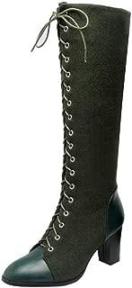 Melady Women Classic Martin Boots Knee High