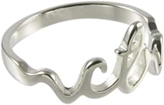 H13 LDS Women's CTR Ring Cursive Small Stainless Steel Sizes 3.5-10