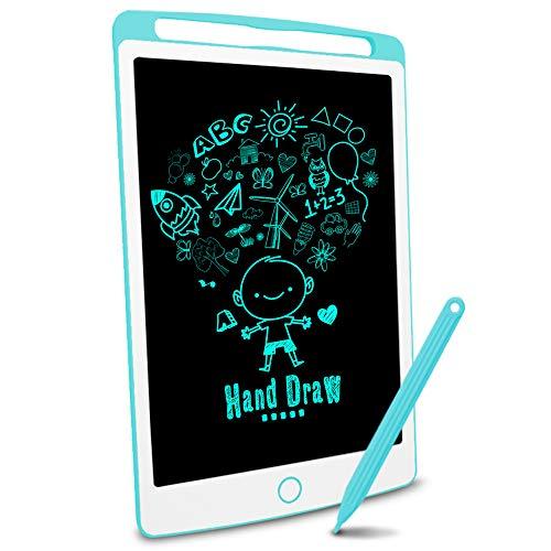 Richgv Tableta de Escritura LCD, Pizarra Infantil 10 Pulgadas, Pizarra magnética para niños, Juguetes electrónicos para Dibujar y Aprender (Azul)