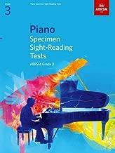 Piano Specimen Sight-Reading Tests, Grade 3 (ABRSM Sight-reading) by ABRSM (3-Jul-2008) Sheet music