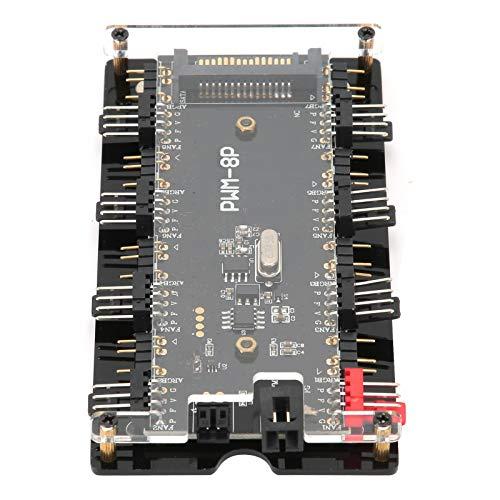 Aukson Mando a Distancia del Ventilador de la Caja del Controlador Dos en uno, concentrador del Ventilador de la Caja, función de sincronización RGB para el Ventilador de refrigeración de la