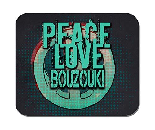 Makoroni - Peace Love Bouzouki Music- Non-Slip Rubber - Computer, Gaming, Office Mousepad