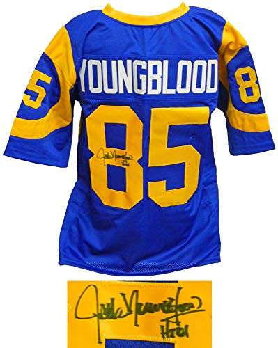Jack Youngblood Signed Blue & Yellow Throwback Custom Football Jersey w/HF'01