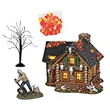 Department 56 Snow Village Halloween Haunted Huntsman House Lighted Building, 5.87 in H