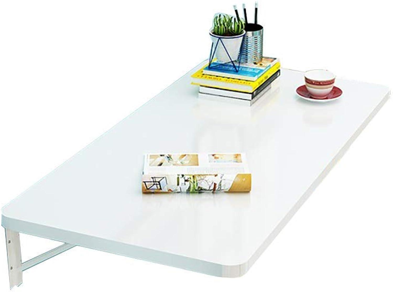 el mas reciente Wghz Mesa de Comedor Plegable blancoa Mesa de Aprendizaje Aprendizaje Aprendizaje de Hoja caída montada en la Parojo para Estudio (Tamaño  100x40cm)  venta caliente en línea