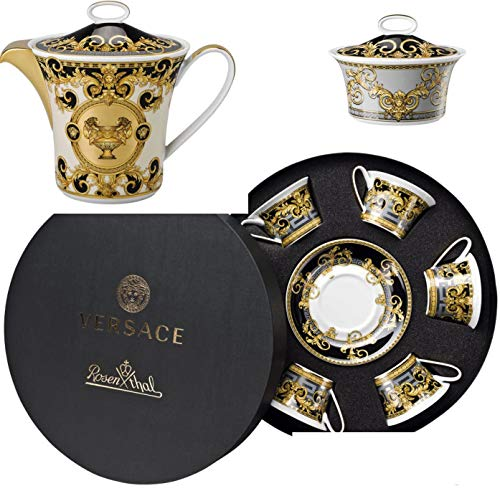 Versace Set 8 Pezzi Te Prestige Gala : 6 Tazze Te Prestige Gala + 1 TEIERA + 1 ZUCCHERIERA