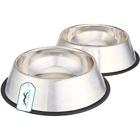 Pets Empire Stainless Steel Dog Bowl Medium (Buy 1, Get 1 Free) (400 ML)