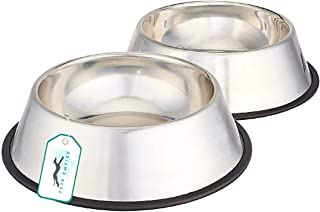 Pets Empire Stainless Steel Dog Bowl Medium (Buy 1, Get 1 Free) (1600 ML)