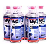 Spray Max barniz de 2 K 6 x 400 ml aerosol (brillante Original 680061 K680061 – 6