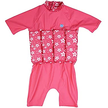 Splash About Collections UV SPF 50+ Sun Protection Float Suit with Adjustable Buoyancy, Pink Blossom