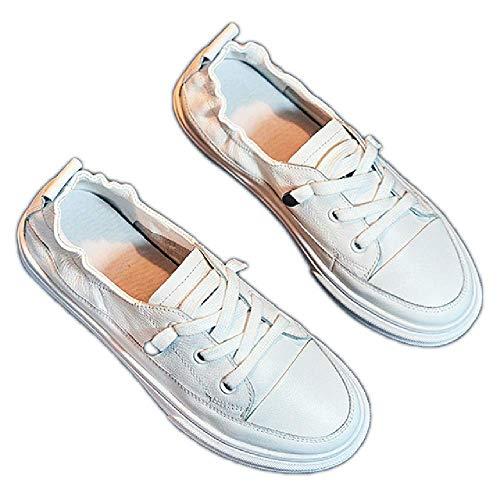 GERPY Zapatos Blancos de Boca Baja Femeninos 2019 Primavera nuevos Zapatos de Enfermera Salvajes Mujeres Embarazadas de Fondo Plano Mujeres de Fondo Suave Zapatos vulcanizados