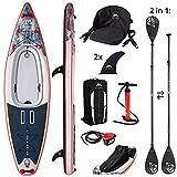 Aqua Marina CASCADE Hybrid - Inflatable Stand Up Paddleboard / Kayak Package 11'2'