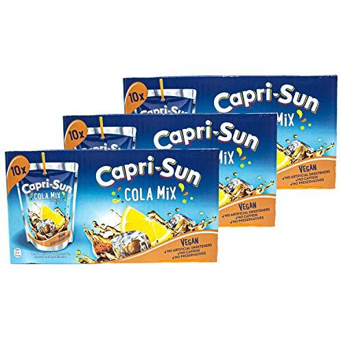 Capri-Sun - 3er Pack Capri Sonne Cola Mix - Caprisonne Vorteilspack (10 x 0.2 Liter) perfekt für Unterwegs 100 {f08e5dcba09bac84dde8a9331727dbb738cefbfbbdf726852cbb0946203c6004} Erfrischung dank Cola und Zitrone