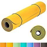 KeenFlex - Tappetino Yoga Pilates Fitness - Premium Anti Scivolo e Confortevole - Extra Lungo 183 cm Splendido Design a Doppio Strato (Giallo)