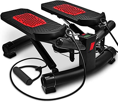 2in1 Twister Stepper mit Power Ropes - STX300 Swing-Stepper & Sidestepper for Anfänger & Fortgeschrittene, up-down-Stepper mit Multifunktionsdisplay, Hometrainer mit verstellbarer retance Gymnastikban