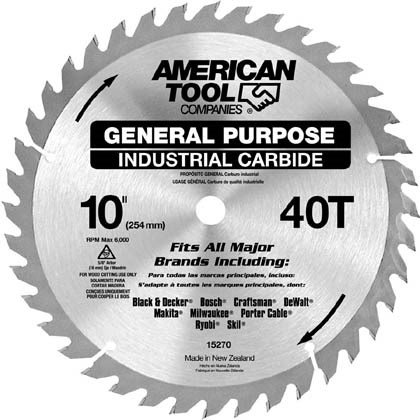 IRWIN Tools Classic Series Carbide Table / Miter Circular Saw Blade, 10-Inch, 40T (15270)
