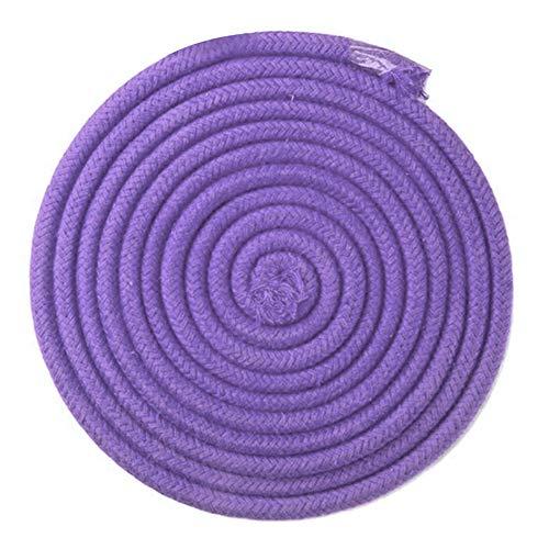 Leezo - Cuerda de gimnasia rítmica de color arcoíris para competición, artes y entrenamiento, cuerda de gimnasia, cuerda de saltar para ejercicio y fitness