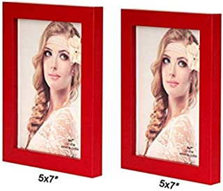 Ieoyoubei Simple 2-Pack Frame Photo Frame Desktop Or Wall Hanging Decoration,Display Size 5x7