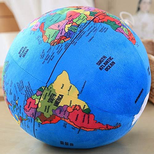 hehuanxiao Stofftier Weich Plüschtier 31cm Globe Plüschtiere Gefüllte Plüschkugel Weiche Puppe Plüsch Englisch Terrestrische Globus Kissen Spielzeug für Kinder Training und Lernspielzeug