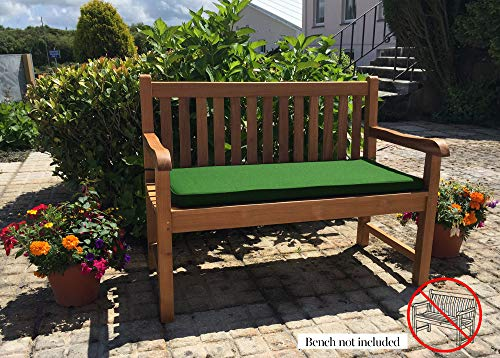 Sustainable Furniture Three Seater Garden (Cushion only-Bench not Included) (Forest Green) Showerproof