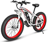 RDJM Bici electrica Bicicletas eléctricas, Motos de Nieve/Bicicletas de montaña, 48V 1000W de Motor, batería de Litio 17.5AH, Bicicleta eléctrica, 26 Pulgadas eléctrico Fat Tire Bicicletas