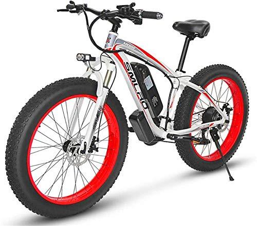 RDJM Bici electrica 4.0 Fat Tire Bike Nieve, Montaña 26 pulgadas de bicicleta eléctrica, 48V 1000W Motor 17,5 ciclomotor litio, hombres y mujeres fuera de la bici del camino, duro-cola de la bicicleta